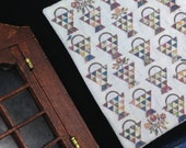 Miniature quilt country dollhouse scale