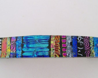 Extra Large dichroic barrette.