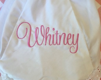 Embroidered Name Monogrammed Bloomers Diaper Cover Panty Boutique Personalized