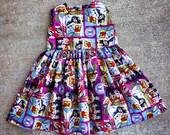 Custom Wonder Woman Sweetheart Dress - Size 2T-6