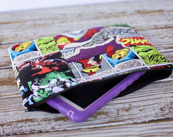 Comic book Patchwork padded tablet sleeve - Marvel comics