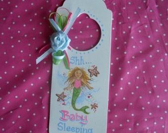 REDUCED-Mermaid Baby Sleeping Door Hanger 50% OFF