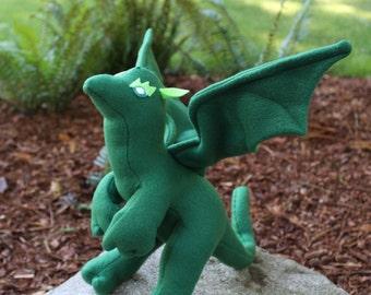 Edamame the Green Stuffed Dragon