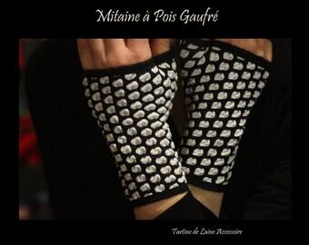 Fingerless Gloves Brown Stripes