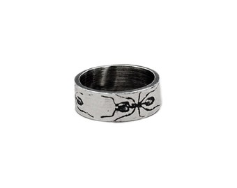 PICNIC RING -- Sterling Silver Ant Ring, size 7 through 9