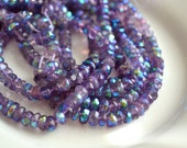 Mystic Amethyst 5x3mm Faceted Rondelle Beads  20