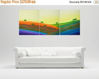 "Art Painting Acrylic Landscape Painting wall decor wall art home Office canvas art wall hangings ""Autumn Hills"" by qiqigallery"