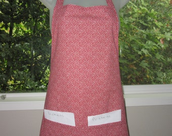 Womens Aprons - Full Aprons - Tight Red and White Swirl