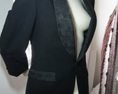 Vintage Oscar de la Renta TUXEDO Jacket Coat S