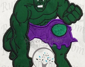 Hulk Smash Applique, Avenger Applique Embroidery Design This not a fill and NOT A PATCH