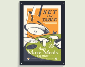Set The Table -12x18 screen print poster