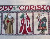 Christmas Gentlemen Completed Cross Stitch