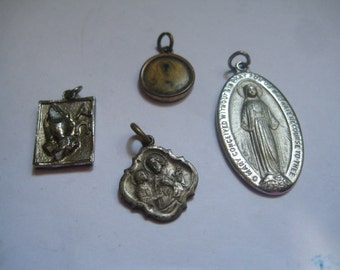 Vintage Religious Medals 4 different ones