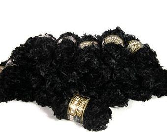 Yarn Destash Bernat Boa 2 Skeins Yarn Bernat Boa Raven Knitting Black Bernat Boa Yarn Destash Yarn Boa Yarn  Crochet Yarn NeedlecraftFibers