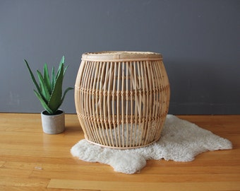 Franco Albini Style Rattan Side Table