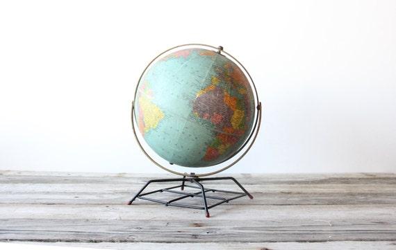 Vintage Atomic Colorful Globe
