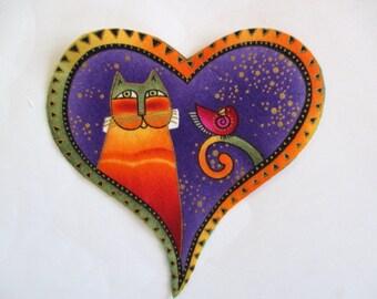 Kittie Bird Heart  Iron On Applique