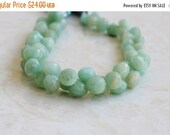 Clearance SALE Amazonite Gemstone Faceted Onion Briolette Aqua 8 to 8.5mm 20 beads