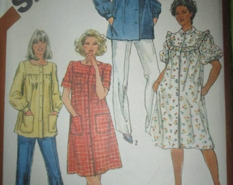 Vintage Simplicity dress and blouse pattern size 22 and 24