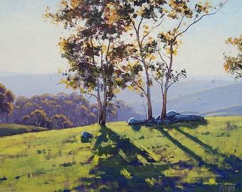 LISTED ARTIST Landscape Painting Original oil Impressionist Canvas Art by  Graham Gercken