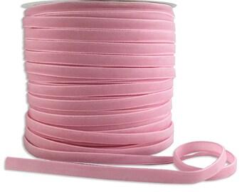 5 Yards Velvet Ribbon Trim Shell Pink  1/4 Inch Wide VR200-SP