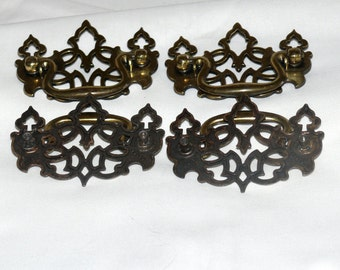 Twenty-Four Brass  Drawer Pulls    - Vintage