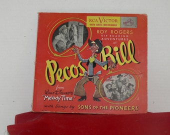 Roy Rogers - Record AlbumSet - Pecos Bill - 1942 - Disney Sons of the Pioneers