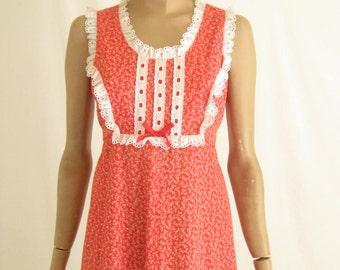 Vintage 70's Boho Prairie Maxi Dress.