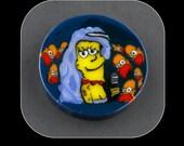 Marge Whinehouse Glass Murrine Boro Murrina Cabochon - 69L