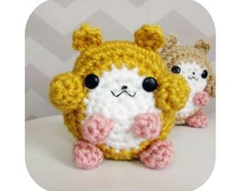 INSTANT DOWNLOAD - cute fat cheeks hamster amigurumi - PDF crochet pattern