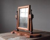 Antique Pine Mirror, Antique 19th Century Mirror, Wood Mirror, Swivel Mirror,  Early American Mirror, Home & Living, Mirrors, Vintage Mirror