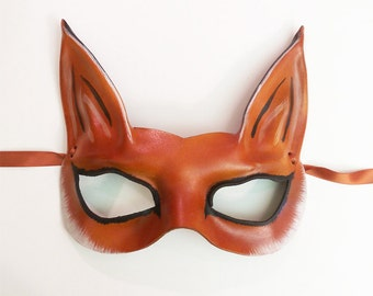 Petite Fox Leather Mask  a smaller and very light version of my bigger Fox masks