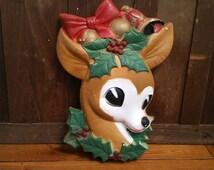 Vintage Styrofoam Reindeer Head