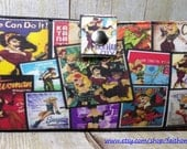 Sale WW2 Woman Bombshells collage Handmade Long fandom Wallet - Vegan Wallet - girl Super Hero wallet