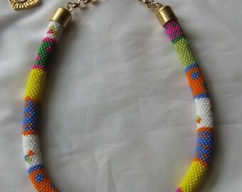 Summer Fun Bead Crochet Necklace