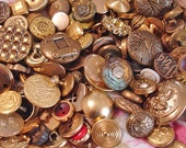 Gold Buttons By The Cup, Scrapbooking Buttons, Craft Buttons, Card Making Buttons, Sewing Buttons, Buttons In Solid Colors