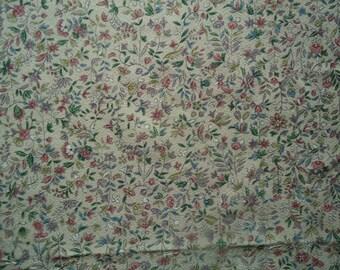 Kimono Fabric Silk Small Flowers