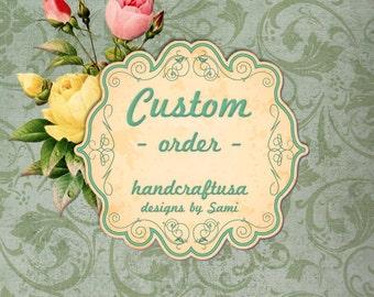 Custom Order do Not Purchase this listing -  Imported Irish Linen Wedding Keepsake Hankie As Seen At Martha Stewart Wedding Party 2015