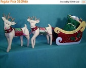 NOW ON SALE Cloth Doll E-Pattern - Santa's Sleigh and Reindeer Epattern
