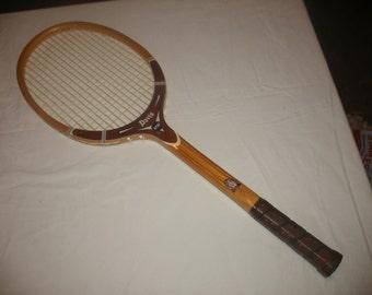 Vintage TAD T.A. Davis Hi- Point Wooden Tennis Racquet