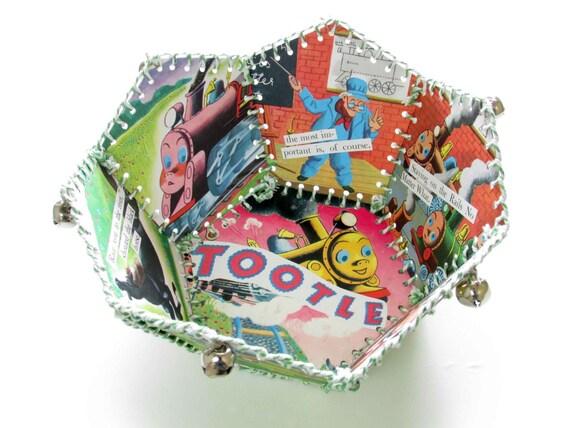 Paper Basket, Vintage Little Golden Book, Tootle