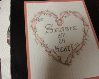 Counted Cross Stitch Kit Sister Saying Golden Bee 60402 Sisters are all Heart Kit NO frame