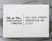 Custom Address Stamp, Self Inking Rubber Stamp, Return Address Stamp, Personalized Gift - 1036