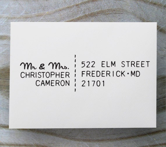 Custom Address Stamp, Self Inking Rubber Stamp, Return Address Stamp, Personalized Gift - 1036