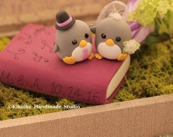 love penguins wedding ake topper