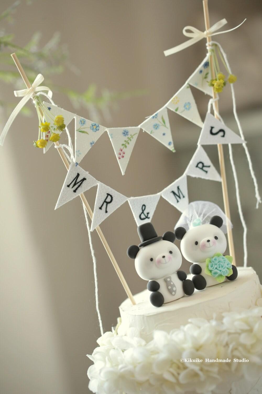 panda wedding cake topperk940