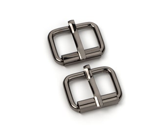 "10pcs - 5/8"" Roller Pin Belt Buckles - Black Nickel - Free Shipping (ROLLER BUCKLE RBK-107)"