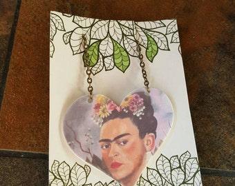 Art History Frida Kahlo Surrealism Shrink Art Necklace