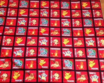Pokemon and hello kitty quilt