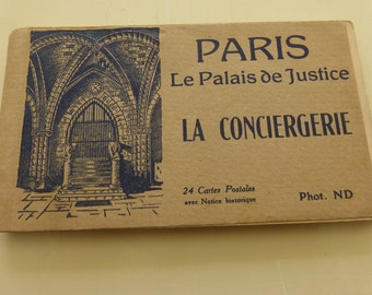 Antique Post Card Album Paris Le Palais de Justice La Conciergerie